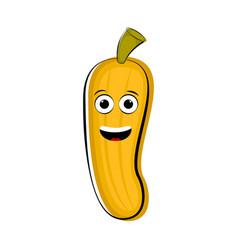 happy banana cartoon character emote vector image