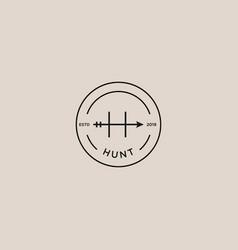 hunt arrow logo vector image