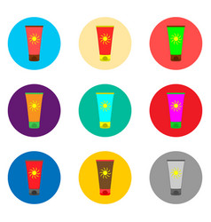 Icon for set symbols summer vector