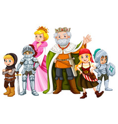 King and other fairytale characters vector