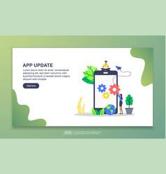 Landing page template app update modern flat vector