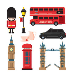landmarks and different culture objects of london vector image