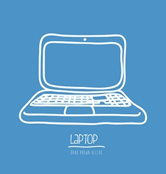 laptop drawn vector image