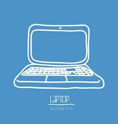 laptop drawn vector image