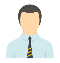 man in business suit as user icon isolated vector image