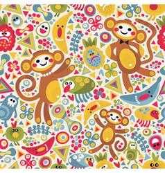 monkey jungle vector image