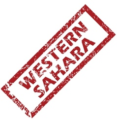 New western sahara rubber stamp vector