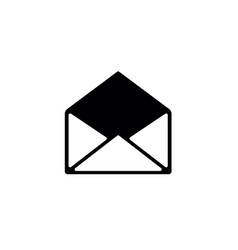 opened email envelope icon vector image