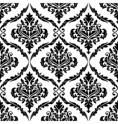 Ornate floral arabesque decorative pattern vector