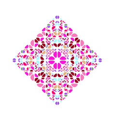 Ornate isolated geometrical floral ornament vector
