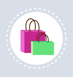 paper bag package shopping icon concept flat vector image