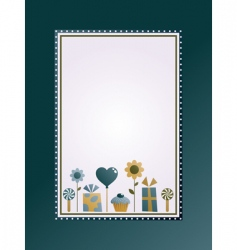 party frame vector image
