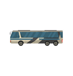 Passenger bus isolated icon vector