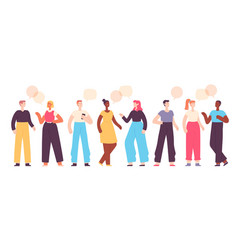 people talk friends chat ask and answer group vector image