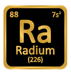 Periodic table element radium icon vector
