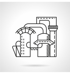 Plant of mineral water line icon vector