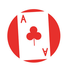 Poker card isolated icon vector