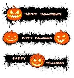 Pumpkin from Halloween and blots vector