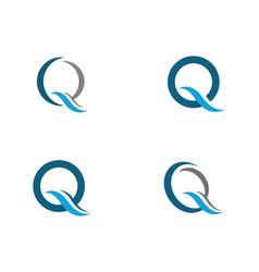 Q letter icon vector