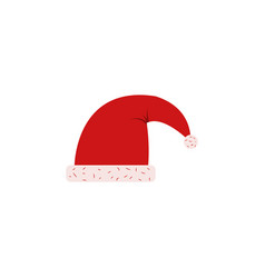 santa hat color icon element of christmas and new vector image