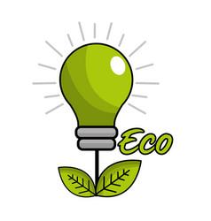 Saving planet bulbs icon vector