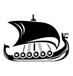 Scandinavian ship icon simple style vector