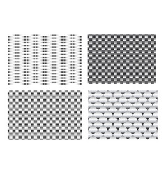 seamless 3d weave metal pattern for texture vector image