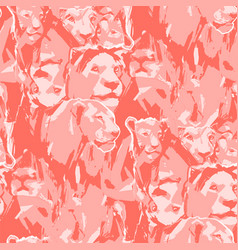 Seamless pattern abstract graphic lion pride vector