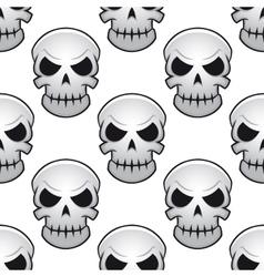 seamless pattern danger skulls vector image
