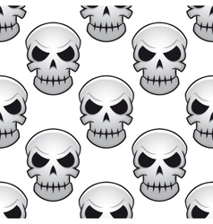 Seamless pattern of danger skulls vector image vector image