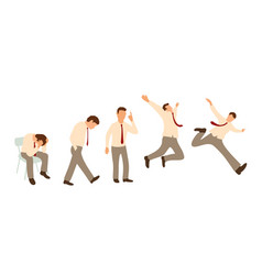 Set characters poses businessman is under stress vector