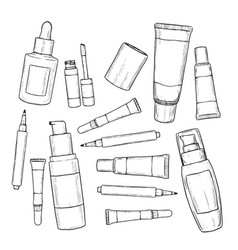 set of foundations vector image