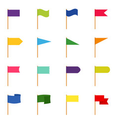 set of icons of color flags vector image