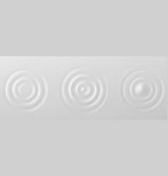 splash ripple waves water surface decoration grey vector image
