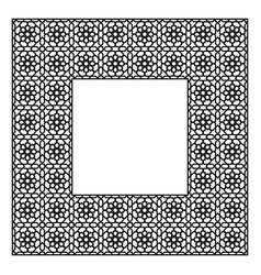 Square frame of the arabic pattern of four by four vector