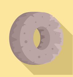 stone age wheel icon flat style vector image