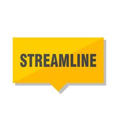 Streamline price tag vector