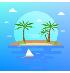 summer holiday in tropical paradise vector image