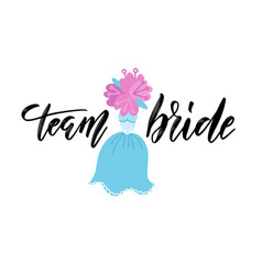 Team bride hand drawn bachelorette party hen vector