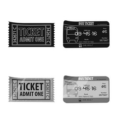 ticket and admission icon vector image