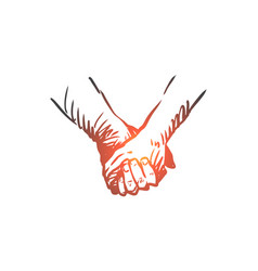 together hands friendship love partnership vector image