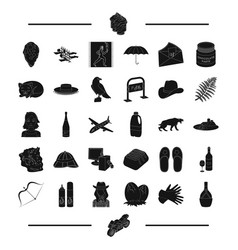 Travel greece antiquity and other web icon vector