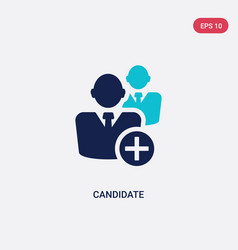 Two color candidate icon from human resources vector