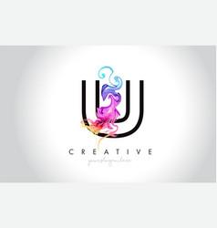U vibrant creative leter logo design with vector