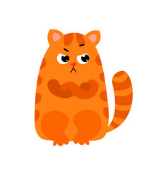 ute red cat with big black eyes and a nose in the vector image