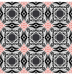 Vintage art deco pattern in dark colors vector image