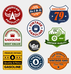 Vintage gasoline signs vector
