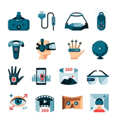 Virtual augmented reality accessories vector