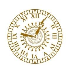Watch face antique clock vector image