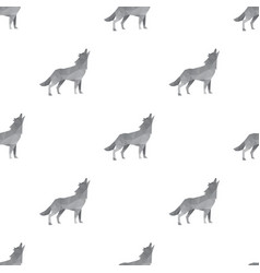 wolf triangle seamless pattern backgrounds vector image